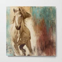 Loyal Steed Metal Print