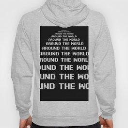 around the world black art print Hoody