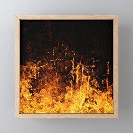 Hot Stuff / Let it burn Framed Mini Art Print