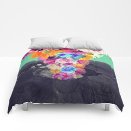 Volcano flower Comforters