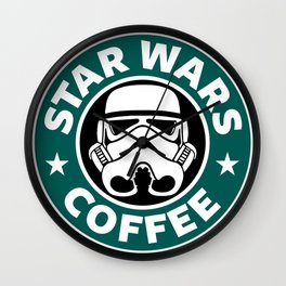 STORMTROOPER COFFEE Wall Clock