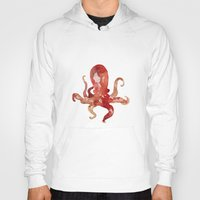 purple Hoodies featuring octo by Okti