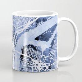 Philadelphia Pennsylvania City Street Map Coffee Mug
