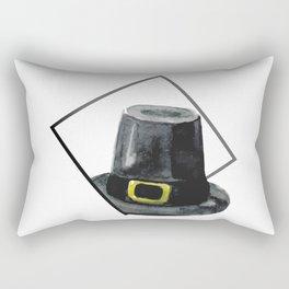 Hat in Square Thanksgiving Minimal Art Rectangular Pillow
