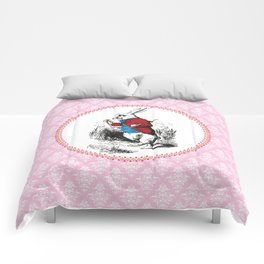 Alice in Wonderland | The White Rabbit checks the time Comforters