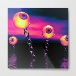 Pop Art Eyes Seascape Metal Print