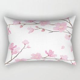 Square- Cherry Blossom - Transparent Background Rectangular Pillow