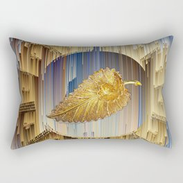 Golden Leaf in the endless dial Rectangular Pillow