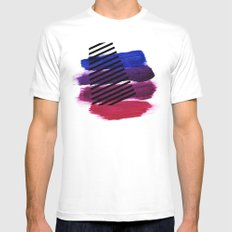 Magenta Broadcast MEDIUM White Mens Fitted Tee
