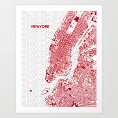 LOVE NEW YORK Art Print