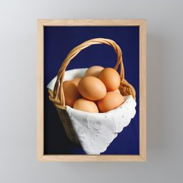 Eggs in a basket Framed Mini Art Print