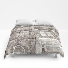 Facades - line art Comforters