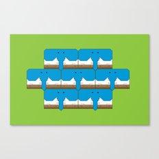 Elephant-Dog Pattern Canvas Print