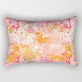 Abstract Paint Splatters Pink & Orange Rectangular Pillow