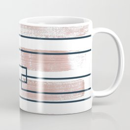 Abstract lines watercolor and geometric painting Coffee Mug