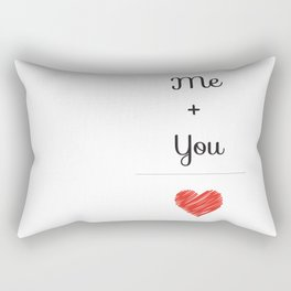 Me + You = Love Rectangular Pillow