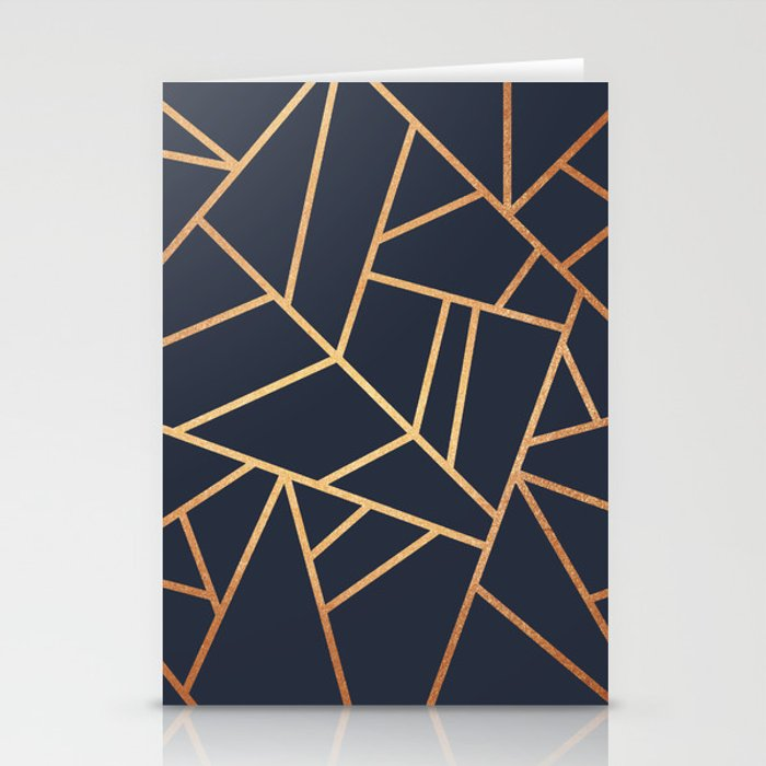 Copper and Midnight Navy Stationery Cards