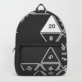 Unrolled D20 Backpack