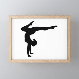 B&W Contortionist Framed Mini Art Print