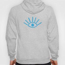 Blue Evil Eye Pattern Hoody