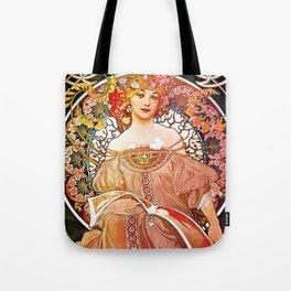 Alphonse Mucha Daydream Floral Vintage Art Nouveau Tote Bag