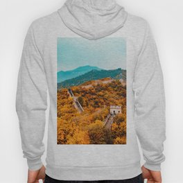 The Great Wall of China in Autumn (Color) Hoody