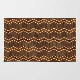 Wooden Chevron - Dark Rug
