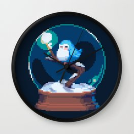 Snow Bird Globe Wall Clock
