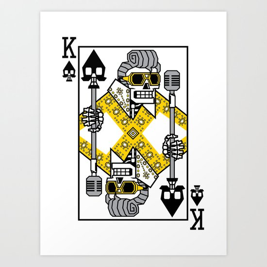 Dead King Card Art Print