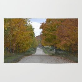 Fall Country Road Rug