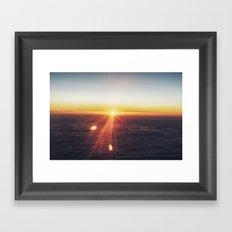 Sunset in the sky Framed Art Print