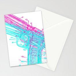 Gun Diagram Stationery Cards