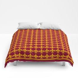 Fleur De Lis - Wine Comforters