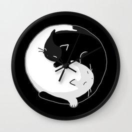 Yin Yang Cats Wall Clock