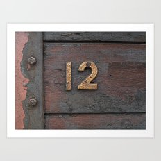 Number Twelve Art Print