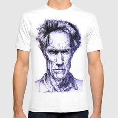 Clint Eastwood MEDIUM White Mens Fitted Tee