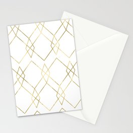 Gold Geometric Stationery Cards
