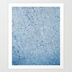 Cracks In Blue Art Print