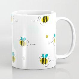 Seamless kids pattern with bee and cute flowers Coffee Mug