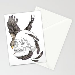 Nevermore skull Stationery Cards