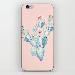 Rose Desert Cactus on Pink by Nature Magick iPhone Skin