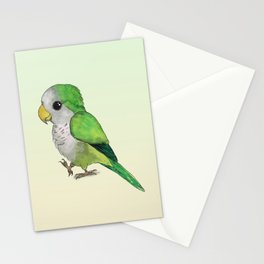 Very cute green parrot Stationery Cards