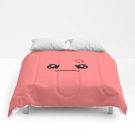 ANGRY! Kawaii Face (Check Out The Mugs!) Comforters