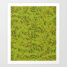 Sixties Swirl Art Print