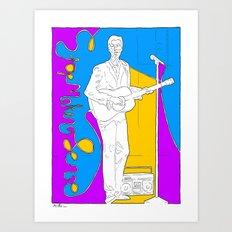 David Byrne in Stop Making Sense by Aaron Bir Art Print