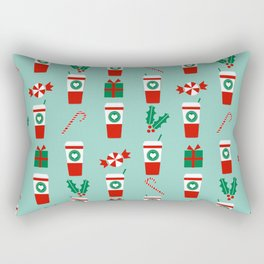 Peppermint Latte mint gender neutral coffee lovers gift for christmas food traditions to remember Rectangular Pillow