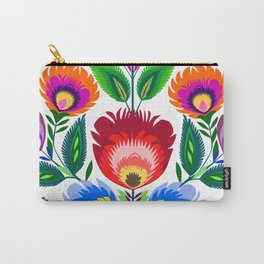 colorful folk flowers Carry-All Pouch