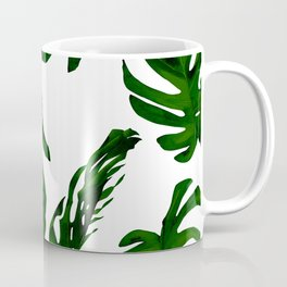Simply Tropical Palm Leaves in Jungle Green Coffee Mug