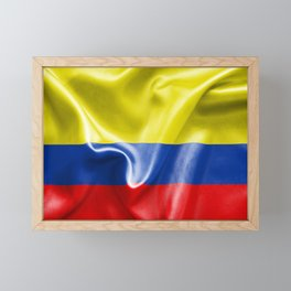 Colombian Flag Framed Mini Art Print