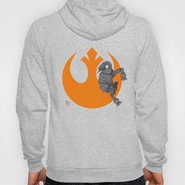 Droid Eek! (orange) - BB8 and AT-AT Standoff Hoody
